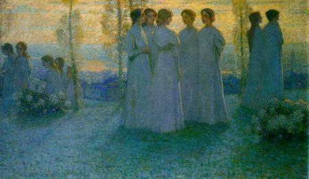 Henri Le Sidaner. Le dimanche (1898)