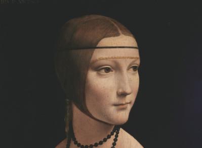 Vinci. La dame à l'hermine, détail