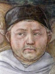 Lippi. Autoportrait. Fresques de la cathédrale de Spoleto (1467-69)