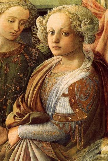 Lippi. Le couronnement de la Vierge, détail (1441-47)
