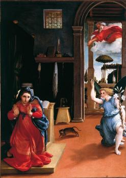 Lorenzo Lotto. Annonciation (1534-35)