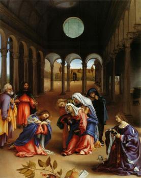Lorenzo Lotto. L'adieu du Christ à sa mère (1521)