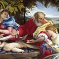 Lorenzo Lotto. Le repos pendant la fuite en Égypte (1529-30)