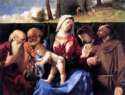 Lorenzo Lotto. Vierge à l'Enfant avec des saints (v. 1506)