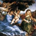 Lorenzo Lotto. Vierge à l'enfant avec des saints (1527-28)