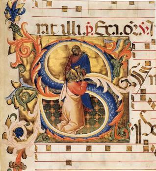 Lorenzo Monaco. Antiphonaire, chœur 8, folio 134 (1395-98)