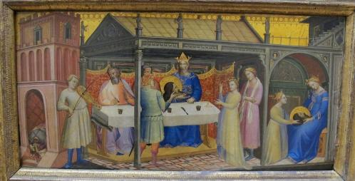 Lorenzo Monaco. Le banquet d'Hérode (1387-88)