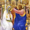 Lorenzo Monaco. Le couronnement de la Vierge, détail (1414)