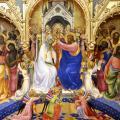 Lorenzo Monaco. Le couronnement de la Vierge, scène centrale (1414)