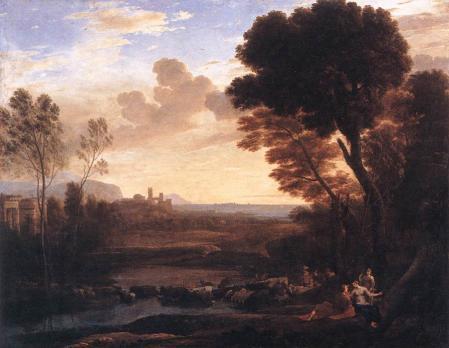 Lorrain. Paysage avec Pâris et Oenone, dit Le Gué (1648)