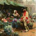 Louis Marie de Schryver. La marchande de fleurs.