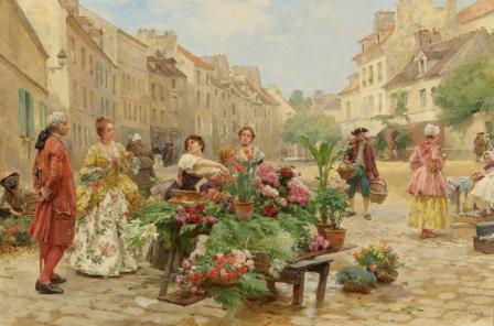 Louis Marie de Schryver. Un marché au XVIIIe siècle (1900)