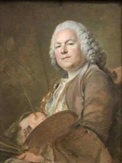 Louis Tocqué. Portrait de Jean-Marc Nattier (1740)