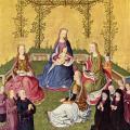 Maître de Cologne. Vierge dans un jardin de roses (v.1420)