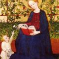 Maître du Jardin de Paradis de Francfort. La Madone aux fraisiers (v. 1420)