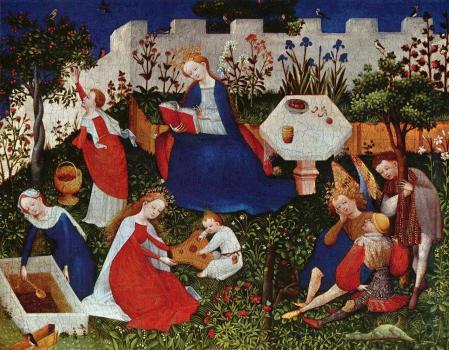 Maitre du Jardin de Paradis de Francfort. Le Jardin de Paradis (v. 1410)