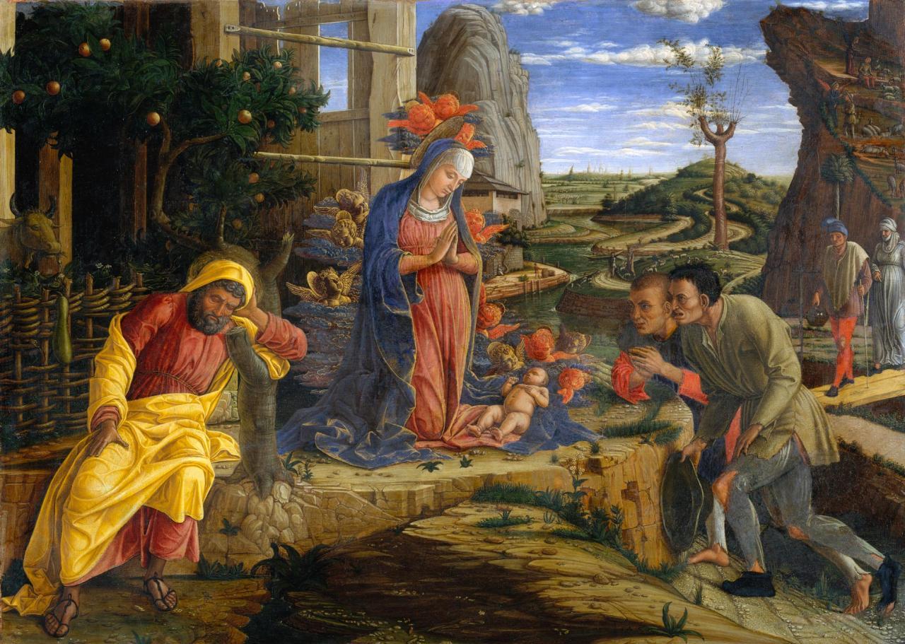 Ca s'est passé en septembre ! Mantegna-l-adoration-des-bergers-1451-53