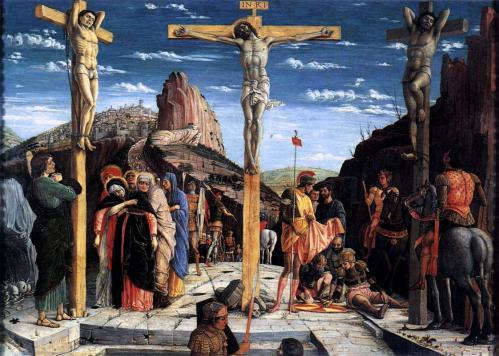 Andrea Mantegna. Polyptyque de San Zeno. Crucifixion (1457-59)