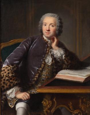 Marianne Loir. Portrait d'un homme assis à son bureau (v. 1750)