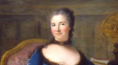 Marianne Loir. Portrait de la marquise du Châtelet, détail