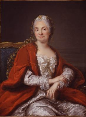 Marianne Loir. Portrait présumé de Mme Geoffrin (v. 1750-60)