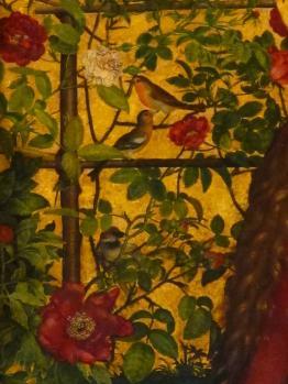 Martin Schongauer. La Vierge au buisson de rose, détail (1473)