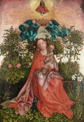Martin Schongauer. La Vierge au buisson de roses, copie (1500-1550)