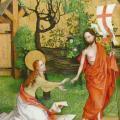 Martin Schongauer. Retable des Dominicains, détail (v. 1480)