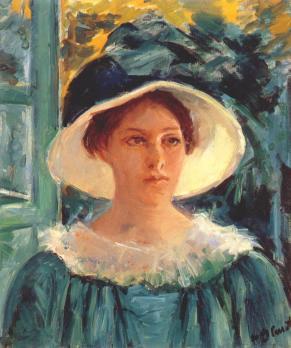 Mary Cassatt. Jeune femme en vert, dehors au soleil (v. 1914)
