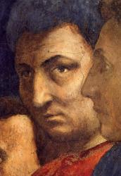 Masaccio. Chapelle Brancacci, Autoportrait (1426-27)