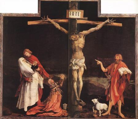 Matthias Grünewald. Retable d'Issenheim, Crucifixion (1512-16)