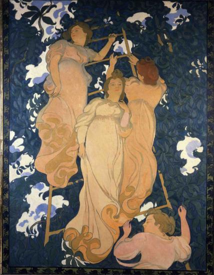 Maurice Denis. L' échelle dans le feuillage (1892)