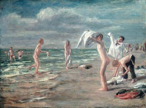 Max Liebermann. Garçons se baignant (1898)