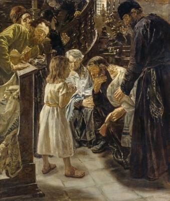 Max Liebermann. Jésus à douze ans au temple (1879)