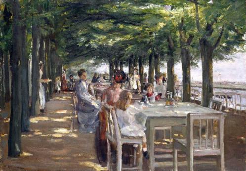 Max Liebermann. La terrasse du restaurant Jacob à Nienstedten-sur-Elbe (1902-03)