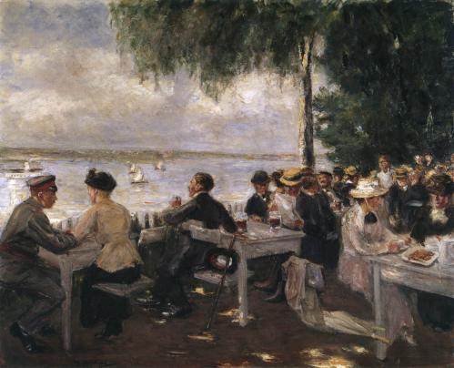Max Liebermann. Terrasse de restaurant sur l'Havel (1916)