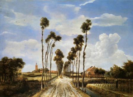 Meindert Hobbema. L'Allée de Middelharnis (1689)