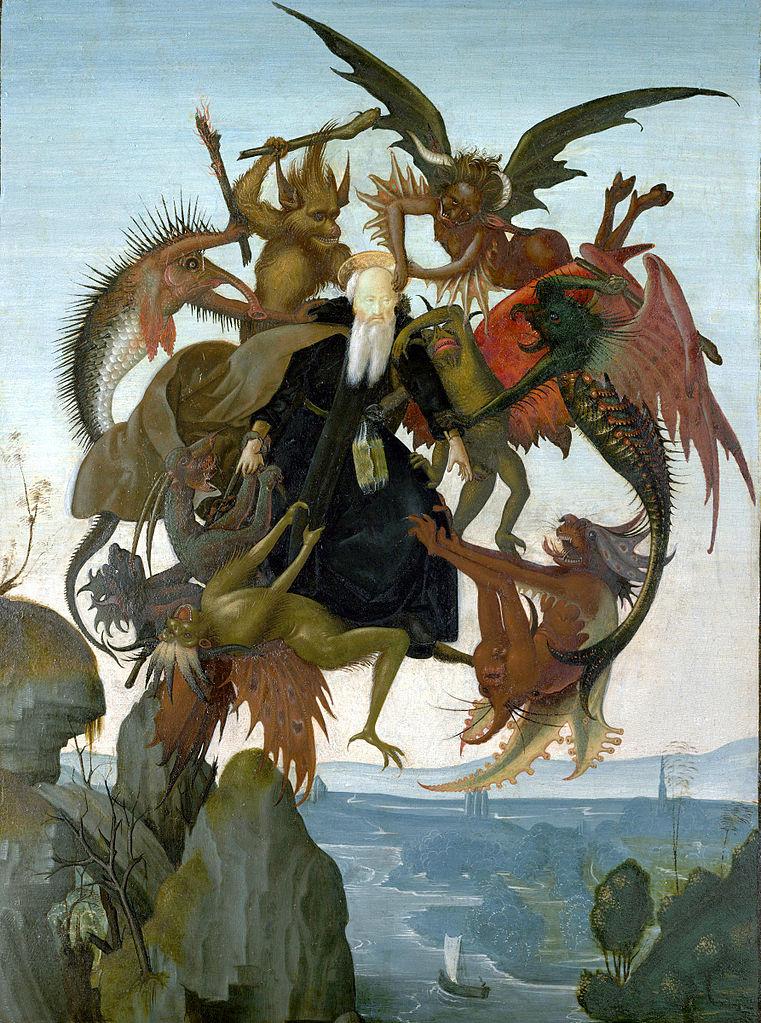 Michel Ange Le Tourment De Saint Antoine 1487 88