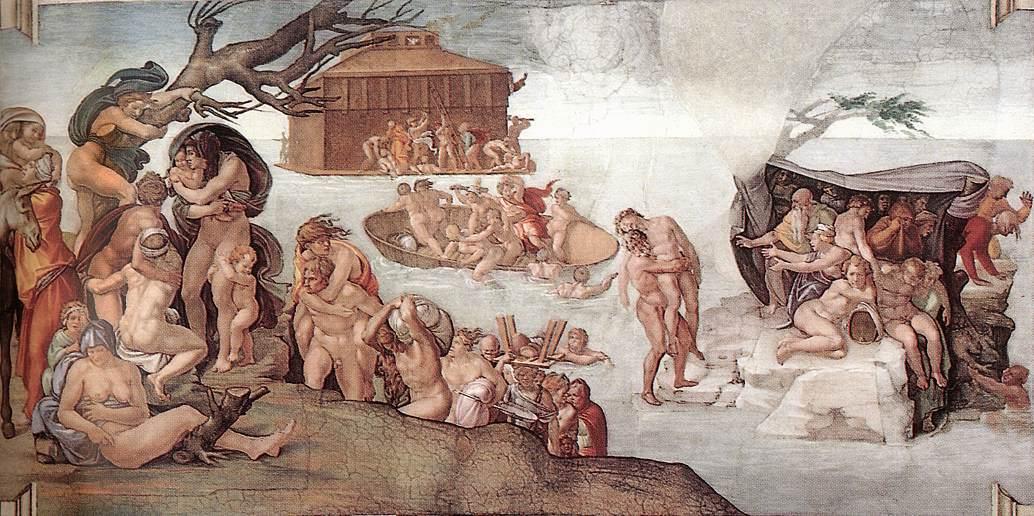 Michel AngeChapelle Sixtine Le Deluge 1508 09