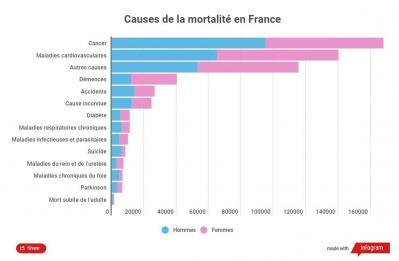 Causes de mortalité en France en 2016