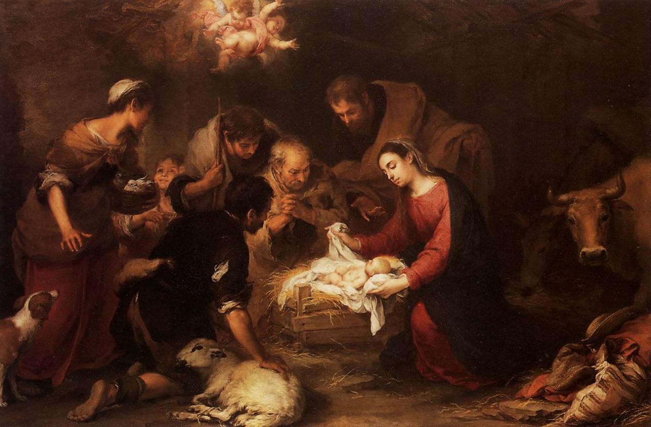 Ca s'est passé en avril ! Murillo-adoration-des-bergers-1668