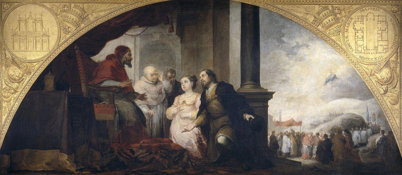 Ca s'est passé en avril ! Murillo-explication-du-songe-du-patricien-par-le-pape-libere-1663