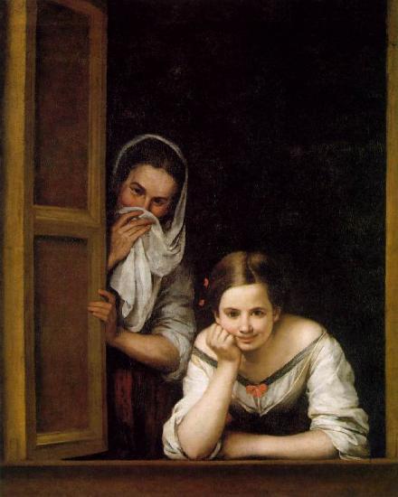 Murillo. Femmes au balcon (1670)