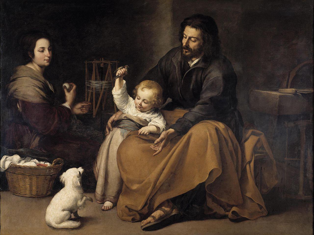 Ca s'est passé en avril ! Murillo-la-sainte-famille-a-l-oisillon-1645-50