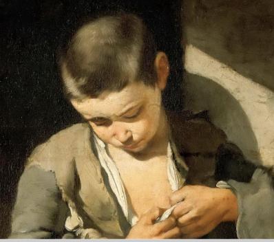 Bartolomé Estéban Murillo. Le jeune mendiant, détail