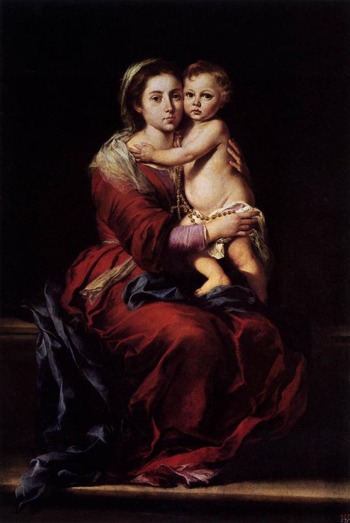 Ca s'est passé en avril ! Murillo-vierge-a-l-enfant-avec-rosaire-1650-55