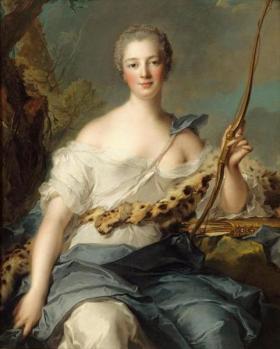 Nattier. Mme de Pompadour en Diane (1746)