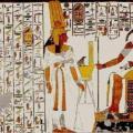 Néfertari devant le dieu Thot (v. -1250)