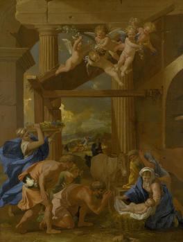 Nicolas Poussin. L'Adoration des bergers (1633-34)