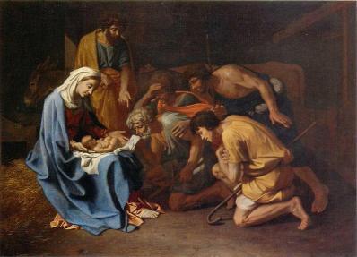 Nicolas Poussin. L'Adoration des bergers (v. 1655)